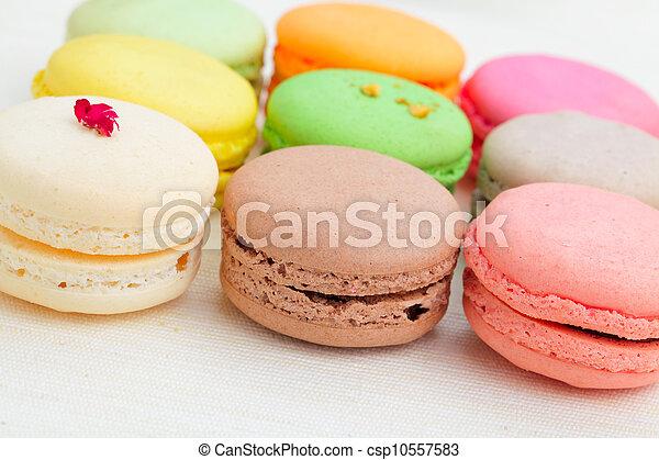 Colorful macaroons - csp10557583