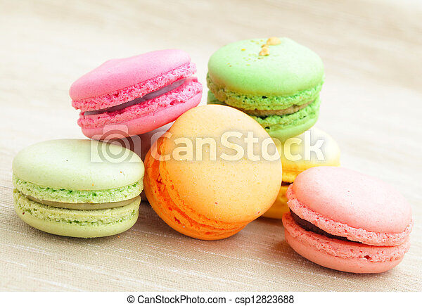 Colorful macaroons - csp12823688