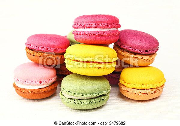 Colorful macaroons - csp13479682