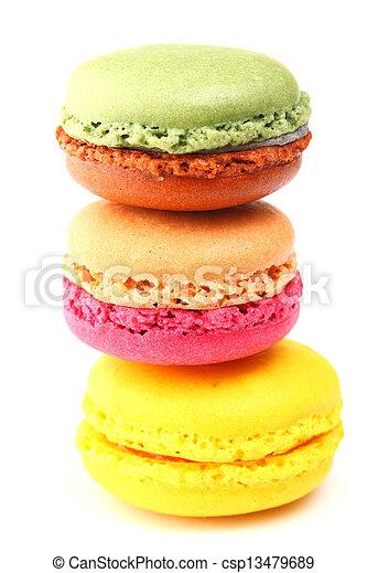 Colorful macaroons - csp13479689