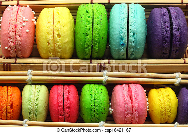 colorful macaroons - csp16421167