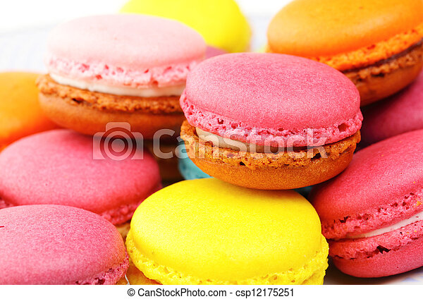 Colorful macaroons - csp12175251