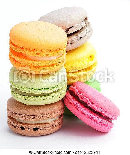 Colorful macaroons - csp12823741
