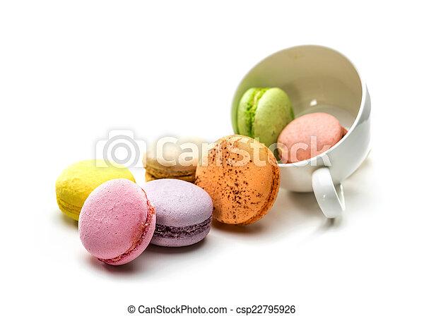 Colorful macaroons - csp22795926