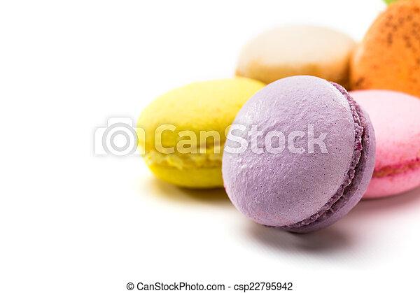 Colorful macaroons - csp22795942