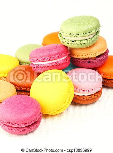 Colorful macaroons - csp13836999