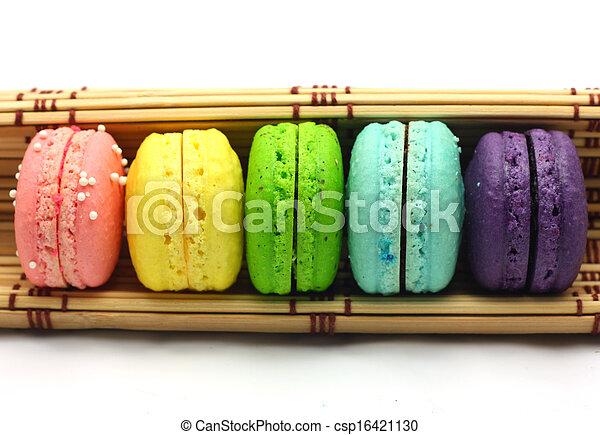 colorful macaroons - csp16421130