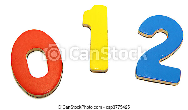 Colorful Magnetic Numbers 0 1 2 - csp3775425