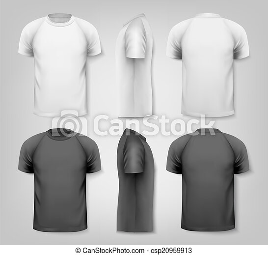 Colorful male t-shirts. Design template. Vector - csp20959913