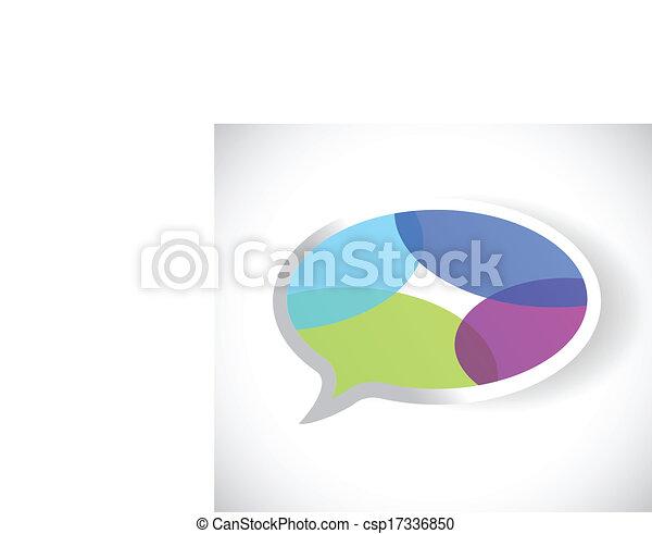 colorful message bubble  - csp17336850