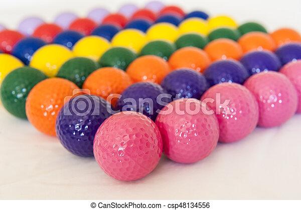 Colorful Miniature Golf Balls - csp48134556