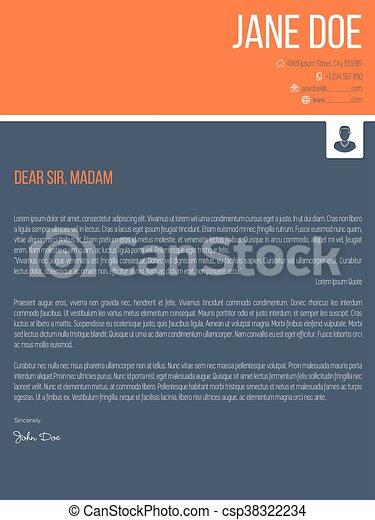 Colorful Modern Cover Letter Resume Cv