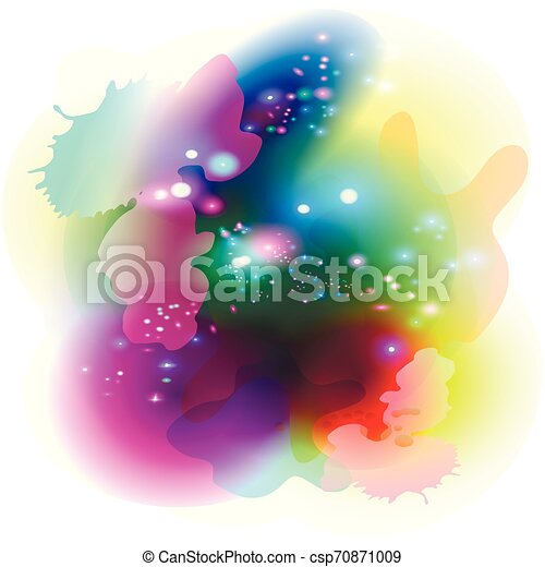 Colorful modern painting graphic abstract concept. Blue green coral gradient palette set. Flat picture vector background for devices, cosmic magical colors concept. - csp70871009