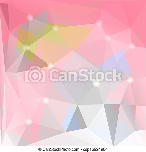 Colorful mosaic triangle background - csp16924984