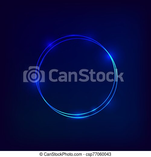 Colorful Neon frame circke background - csp77060043