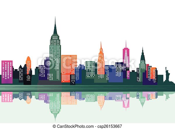 colorful New York - csp26153667
