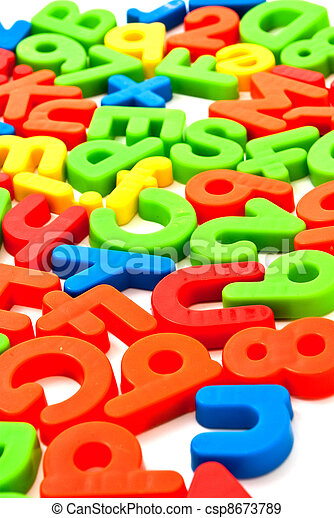Colorful numbers and letters - csp8673789