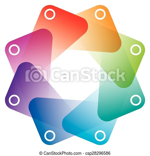 Colorful Octagon Symbol with transparent effect. - csp28296586