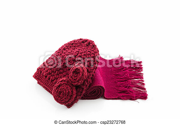 Colorful of scarf and hat. - csp23272768