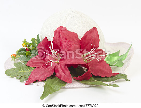 colorful of variety plastic flowers. - csp17776972