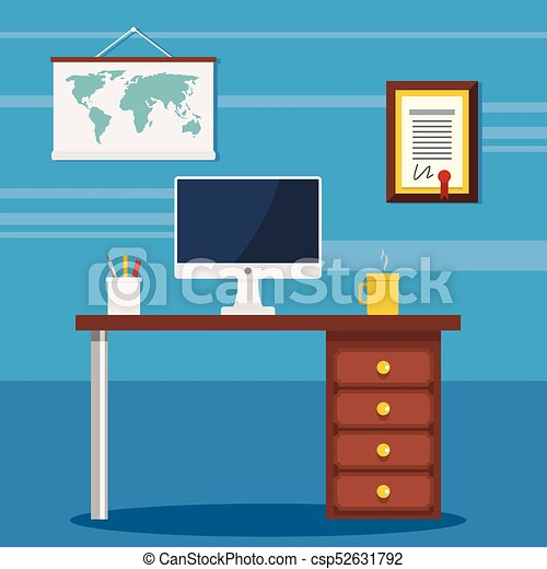 Incroyable Colorful Office Work Space   Csp52631792