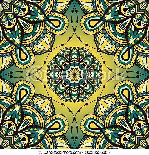 Colorful ornament with mandalas