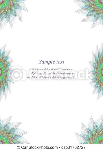 colorful page borders. Colorful page border design template  csp31702727 fractal vector