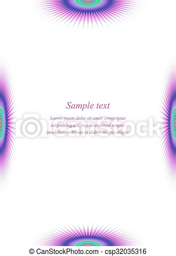 Colorful Page Border Design Template For Brochure Vector Clip Art Colorful Page Border