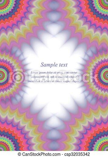 Colorful Page Border Fractal Ornament Design