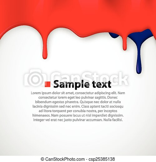 Colorful paint dripping background. - csp25385138
