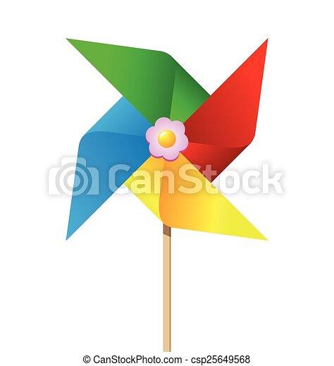 Colorful paper pinwheel - csp25649568