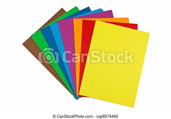 colorful paper stacks - csp8574493