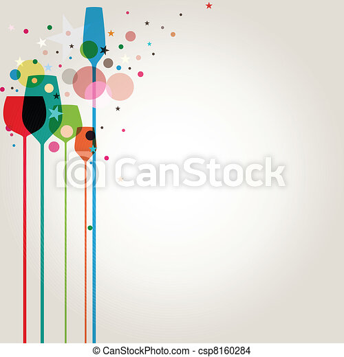 Colorful Party Drinks - csp8160284