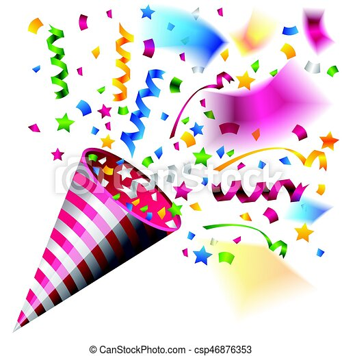 colorful party popper for celebration beautiful colorful party rh canstockphoto com celebration clipart black and white celebration clip art free images