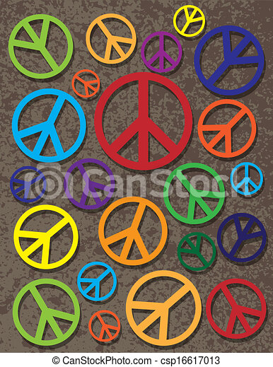 Colorful Peace Symbol On Texture Background Peace Symbols Signs