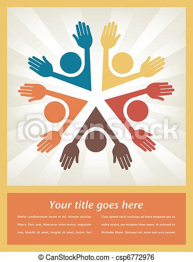 Colorful people design.  - csp6772976