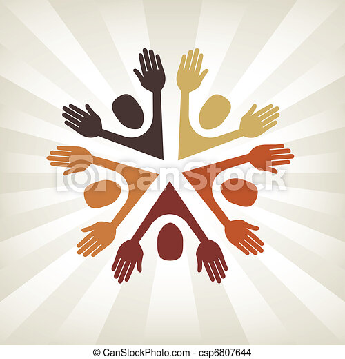 Colorful people vector. - csp6807644