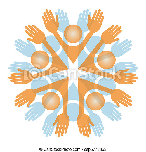 Colorful people vector.  - csp6773863