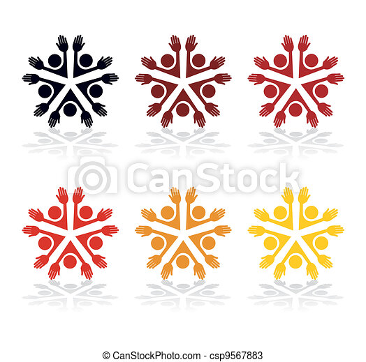 Colorful people vector. - csp9567883