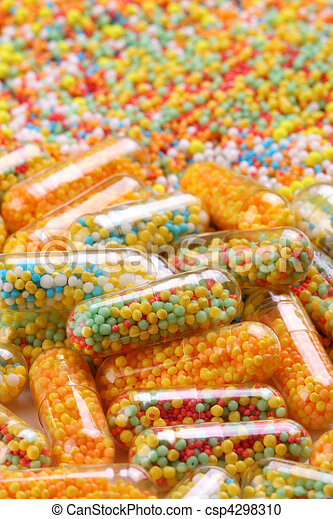 Colorful pharmaceutical capsules - csp4298310