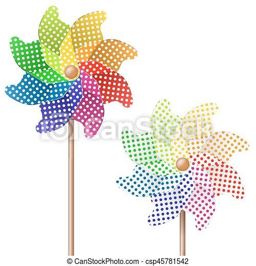 colorful pinwheel - csp45781542
