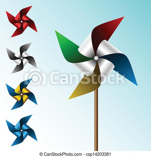 Colorful pinwheel set - csp14203381