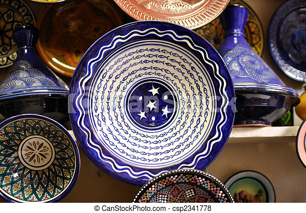 Plates For Sale >> Colorful Plates For Sale In Marrakech Morocco