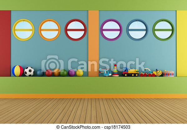 Colorful playroom - csp18174503