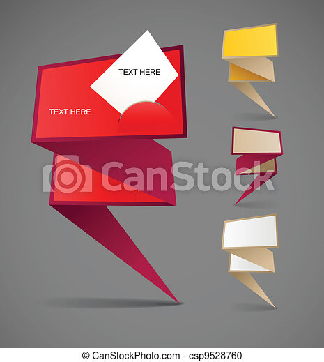 Colorful polygonal origami banners - csp9528760