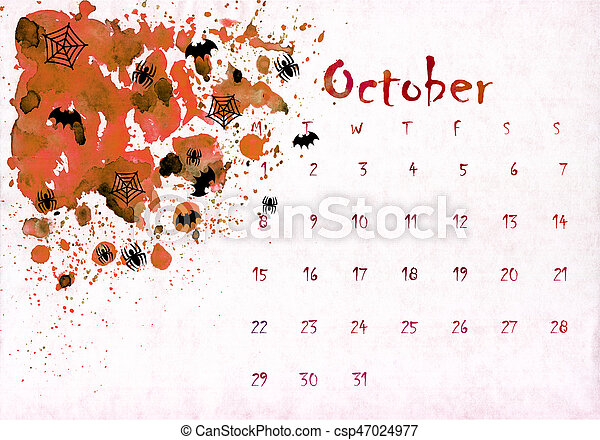 image relating to Printable Textures identify Colourful printable calendar 2018 style with hand prepared weeks upon watercolor textures paint