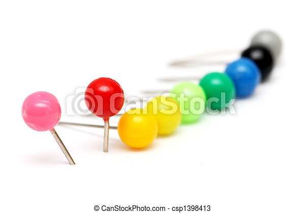 Colorful Push Pin - csp1398413