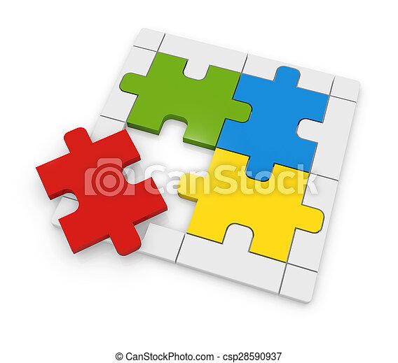 Colorful Puzzle - csp28590937