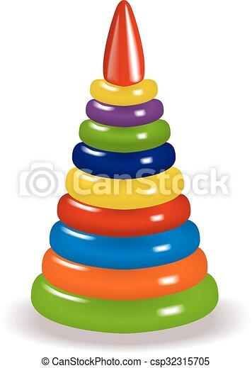 colorful pyramid - csp32315705