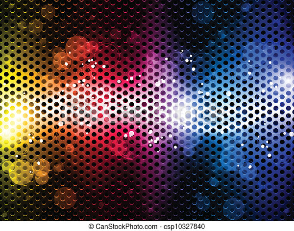 Colorful Rainbow Neon Party Background - csp10327840